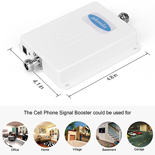 Phonelex Cell Phone Signal Booster AT&T T-Mobile 4G LTE Band12/17 700Mhz 70dB Cell Phone Signal Amplifier Mobile Signal Booster Repeater with Indoor Ceiling / Outdoor YaGi Directional Antenna For Home by phonelex (Image #2)