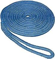 SeaSense Pre-Spliced Double Braid MFP Dock Line, 1/2-Inch x 15-Feet, Blue