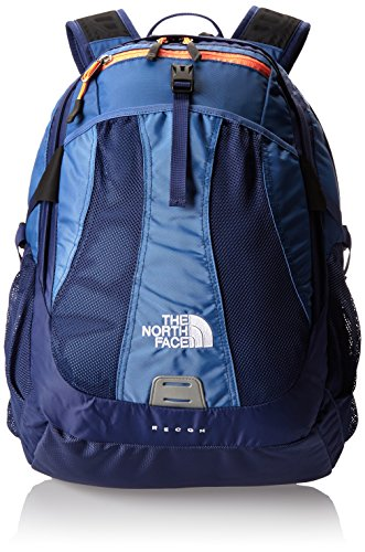 The North face Womens Recon Backpack Coastline Blue Electro Coral Orange