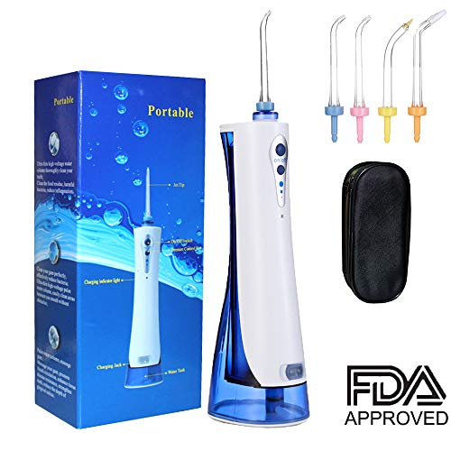 - Bearals Oral Irrigator, Rechargeable Water Flosser, Water Pick Teeth Cleaner with 4 Jet Tips and Zipper Storage Bag for Braces, Gums and Teeth Whitening, FDA Approved