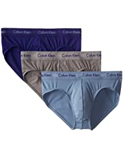 CALVIN KLEIN Men's Underwear Hip Briefs, 3 Pack Cotton Stretch