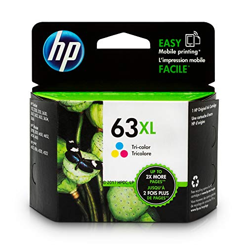 HP 63XL | Ink Cartridge | Tri-color | F6U63AN (Hp Deskjet 3637 Wireless All In One)