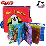LALABABY Penguin Cloth Book Baby Educational Toys for 0-3 Years