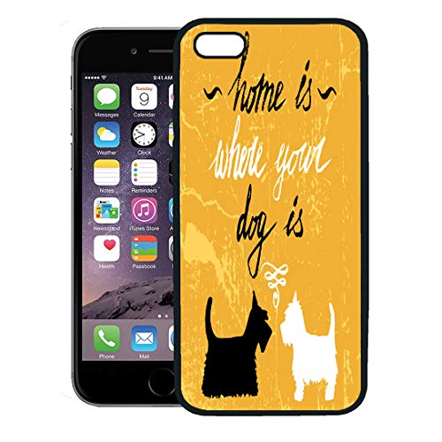 Semtomn Phone Case for iPhone 8 Plus case,Scottish Home is Where Your Dog Hand Lettering Quote Terrier White iPhone 7 Plus case - Scottish Terrier Iphone