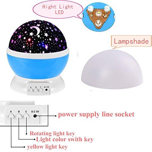 360 Degree Rotating Galaxy Led Night Lighting Lamp Color