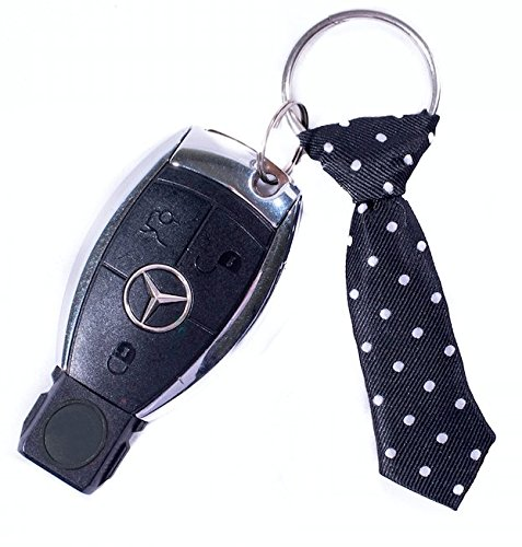 The Pocket Tie Miniature Black Tie Key Chain for Men, Black