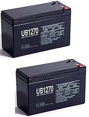 UB1270 12V 7AH BATTERY FOR Mighty Mule FM150 / GTO, Gate Openers - 2 Pack