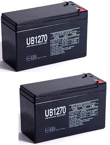 Universal Power Group 12v 7ah UPS Battery replaces 7ah Enduring CB7-12, CB-7-12 - 2 Pack - 24v Lead Acid Battery