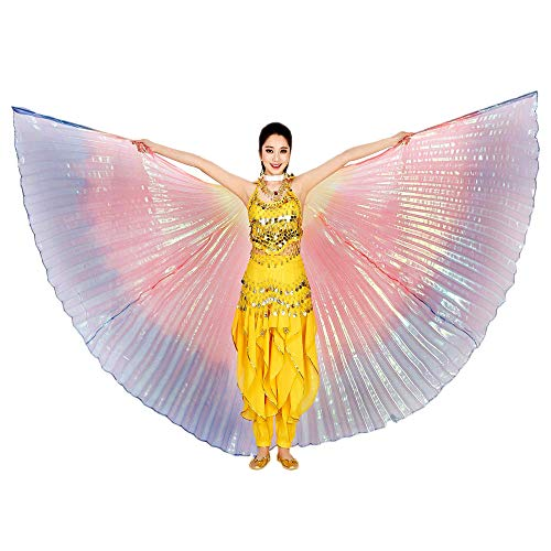 (POQOQ Halloween Butterfly Wings Shawl Soft Fabric Fairy Pixie Costume Accessory 142CM/55.9