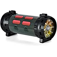 Pyle PMBSPG40 Portable Bluetooth Boom Box Speaker System, Rechargeable Battery, DJ Flashing LED Lights