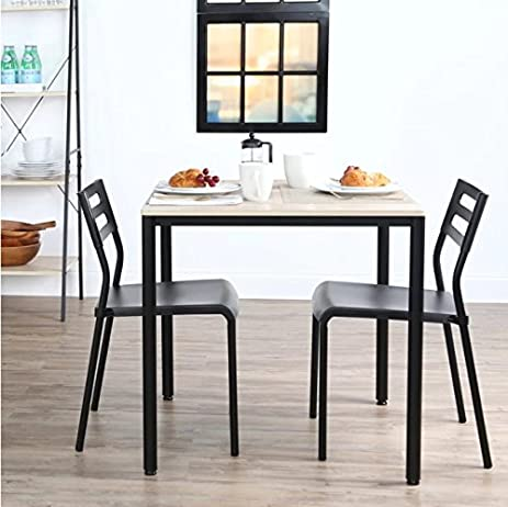 Compact Kitchen Table Amazon 3 piece dining room set nook bistro compact kitchen 3 piece dining room set nook bistro compact kitchen workwithnaturefo