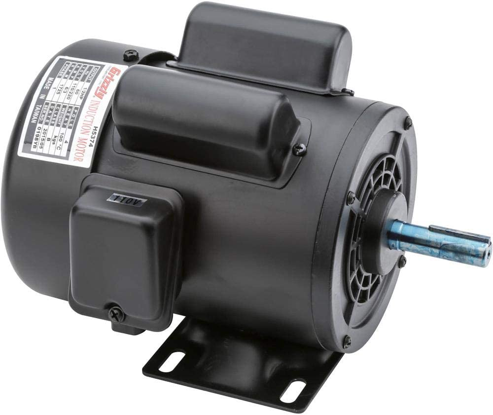 Grizzly Industrial H5374 - Motor 1/2 HP Single-Phase 1725 RPM TEFC 110V/220V