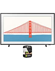 Samsung QN65LS03AAFXZA 65 Inch The Frame QLED 4K Smart TV 2021 Bundle with Premium 1 Year Extended Protection Plan