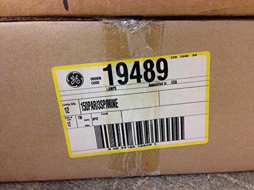 12 PIECES GE 19489 150PAR/3SP/MINE SPOT 150W 130V MEDIUM SIDE PRONG BASE by GE