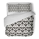 SanChic Duvet Cover Set Abstract with Elegant Branches and Scrolls Lattice in the Moroccan Style Arabian Arabesque Decorative Bedding Set with 2 Pillow Shams Full/Queen Size