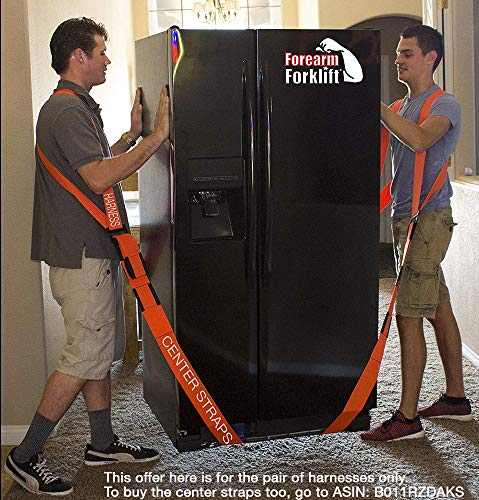 Forearm Forklift FFH2 Harness 2 | Requires Lifting & Moving Straps (Sold Separately) | 2 Person System | Lift Like A PRO and Move Heavy Appliances | Rated Up to 800 Lbs, Orange by Forearm Forklift (Image #1)