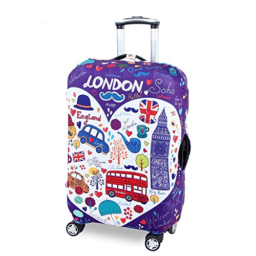 Myosotis510 Cute 3D Luggage Protector Suitcase Cover 18-32 Inch (Kids Minion Suit)