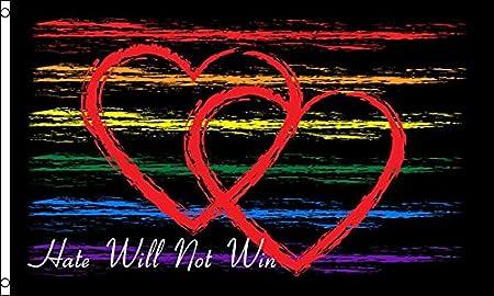 Rainbow Love  Flag 5 x 3 Ft Flag