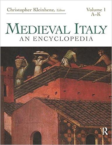 Medievaly Italy: An Encyclopedia