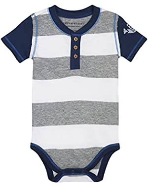 Baby Boys' Rugby Stripe Buzz Bodysuit