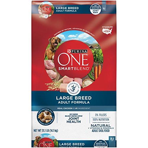 Breed Adult Formula Dog Food - Purina ONE SmartBlend Natural Large Breed Formula Adult Dry Dog Food - 31.1 lb. Bag