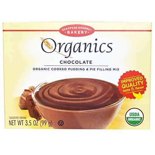 European Gourmet Bakery, Organics, Cooked Pudding & Pie Filling Mix, Chocolate, 3.5 oz (99 g) - 2pcs