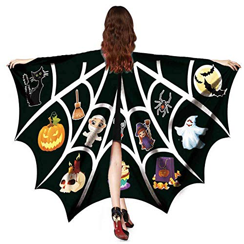 Butterfly Wings For Women, Limsea Halloween Print Bat Shawl Cape Costume Accessory