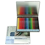 ヴァンゴッホ水彩色鉛筆24色セセット(メタルケース入り)