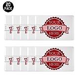 Personalized Credit Card USB Flash Drive Custom Logo Memory Stick Thumbdrive 20 Bulk Pack (4GB)