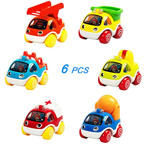 (SAOCOOL Pull Back Cars Toy, Baby Toy Car with 6 Different Types of Construction Vehicles Engineering Toy Trucks, The Best Early Education Toy for Baby Boys and Girls (1 - 3 Years Old))