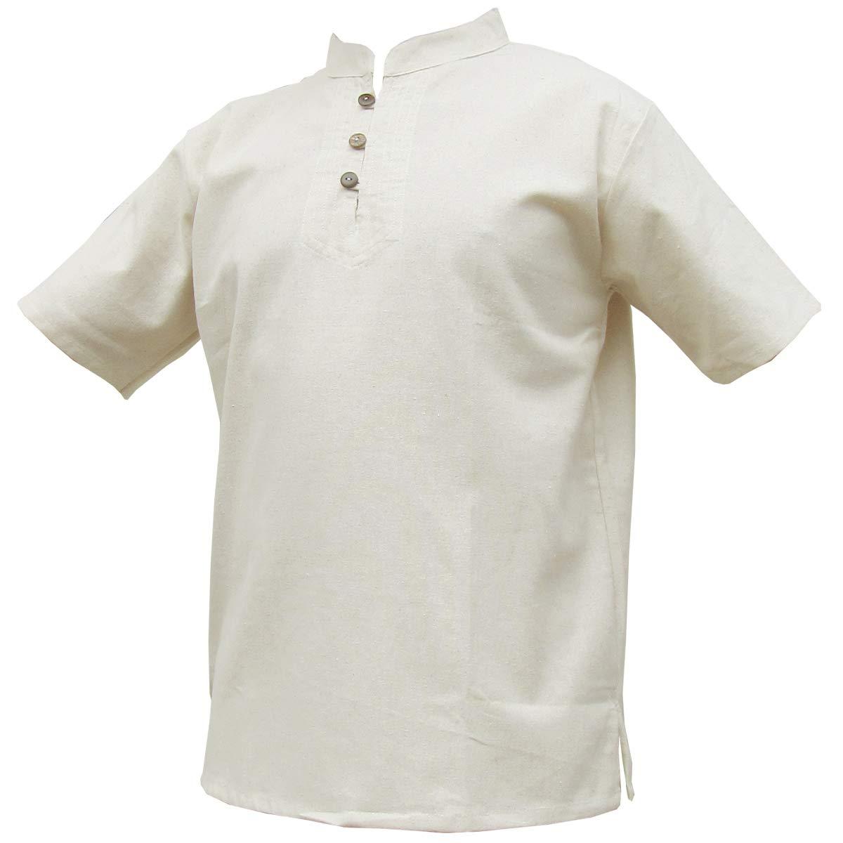 TALLA M. Panasiam® - camisas y pantalones Naturales, 100% algodón no tratado, tallas de la S a la L (es necesario que compres una talla más grande de lo habitual)