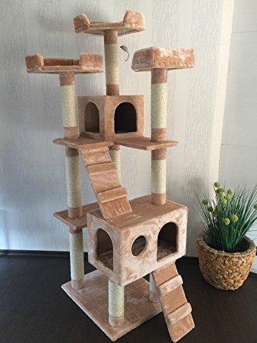 """Lemio - Árbol para gato """"Castle"""" rascador para gatos (beige)"""