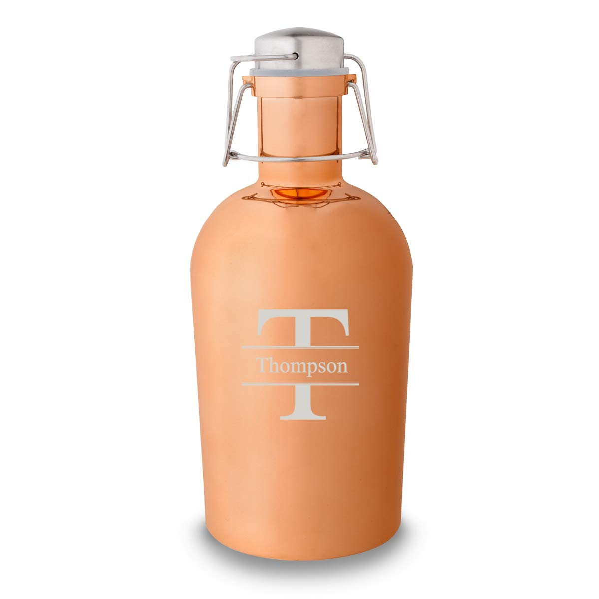 Personalized Copper Growler - Groomsmen - 64 oz (STAMPED)
