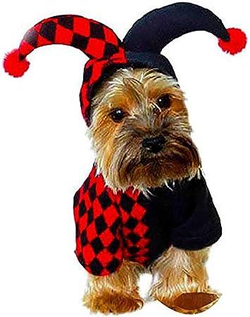 Payaso para Mascotas Navidad Halloween Mascota Perro Gato Cachorro Disfraces Ropa Vestir Ropa para Mascotas para Perros Gatos, XS/S/M/L/XL,S: Amazon.es: Hogar