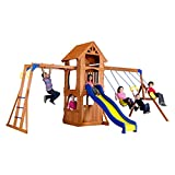 Backyard Discovery Parkway All Cedar Wood Playset Swing Set