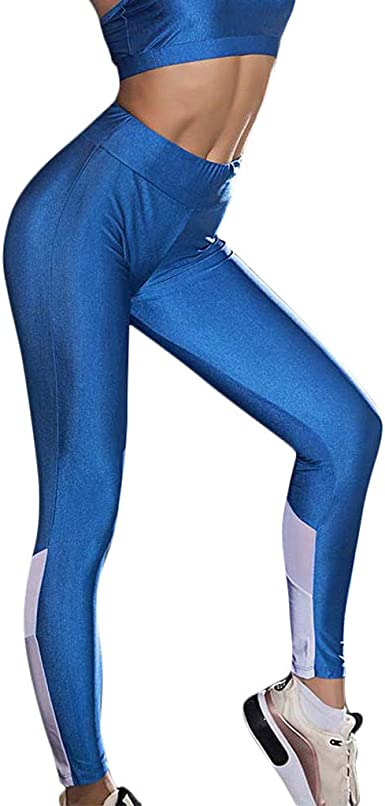 NEARTIME Womens Yoga Running Pants Casual Solid Color Compression Leggings Workout Tights Hidden with Pocket