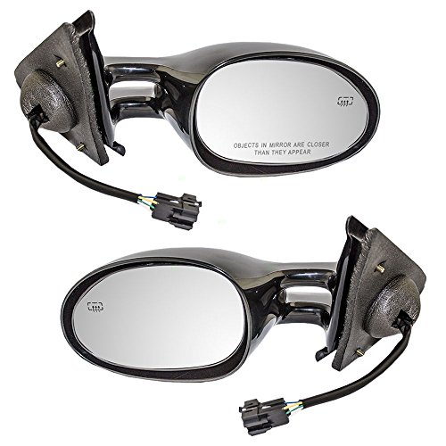 Driver and Passenger Power Side View Mirrors Heated Replacement for Dodge Chrysler Plymouth 4646309 4646308 -