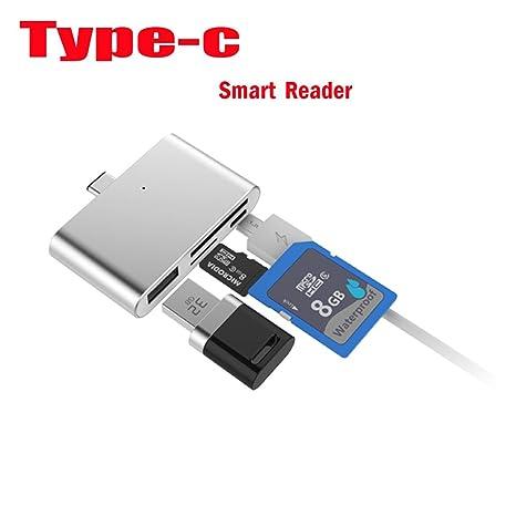 Tipo C lector de tarjetas USB3.1 Tipo C OTG Hub Lector de ...