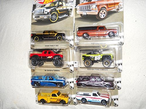 Hot Wheels set of 8: RAD TRUCKS! Includes Datsun 620, Toyota