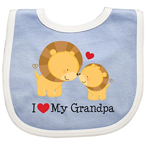 Grandpa Bib - Inktastic - I Love My Grandpa Baby Bib Blue/White efbc