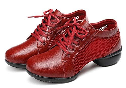 Scarpe Da Ballo Outdoor Donna Jiye Moda Sneakers Sportive Traspiranti Di Colore Rosso