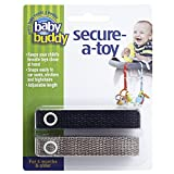 Baby Buddy 2-Count Secure-A-Toy, Black/Tan, 2-Pack