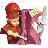 Westland Giftware Looney Tunes Magnetic Elmer Fudd and Bugs Bunny Salt and Pepper Shaker Set, 3-3/4-Inch