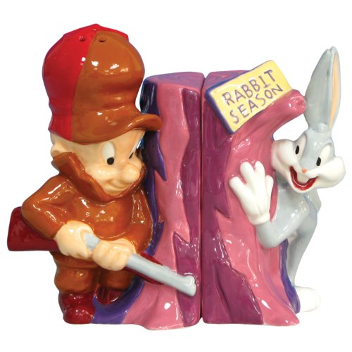 westland-giftware-looney-tunes-magnetic-elmer-fudd-and-bugs-bunny-salt-and-pepper-shaker-set-3-3-4-i