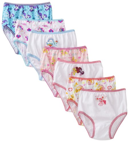 Handcraft Little Girls'  My Little Pony Rotating Print  Underwear Set (Pack of 7), Multi, (My Little Pony For Girls)