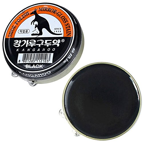 (Black x 3 pcs) Kangaroo Shoe Boots Dyes Polishes Mirror-Gloss Stain Shine Wax For Professional by POST-ART (Image #4)