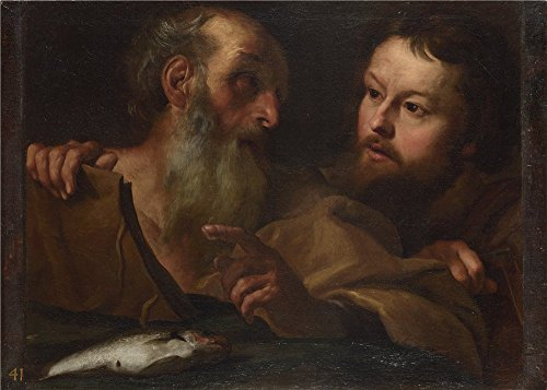 (The Polyster Canvas Of Oil Painting 'Gian Lorenzo Bernini Saints Andrew And Thomas ' ,size: 10 X 14 Inch / 25 X 36 Cm ,this Imitations Art DecorativeCanvas Prints Is Fit For Nursery Decoration And Home Artwork And Gifts)