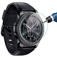 [Paquete de 3] KIMILAR Protector de pantalla compatible con Samsung Gear S3 y Samsung Galaxy Watch 46mm, cubierta de vidrio templado impermeable Compatible Gear S3 /Galaxy Watch 46mm Smartwatch Crystal Clear Scratch Resist