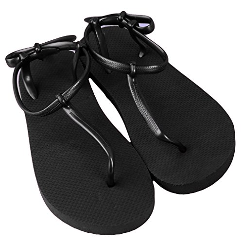 Simple Fashion Sandals Women Beach for Ladies Black LnLyin Indoor Flops Platforms Bohemian Outdoor Ladies Flip Casual Shoes Toe Flat Sandals Summer Slipper Sandals IxZw5Cwdq