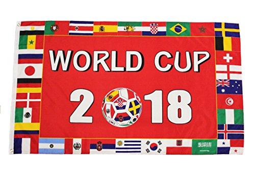 WORLD CUP 2018 & Countries Flags 3' x 5' Feet Flag Banner.Ne